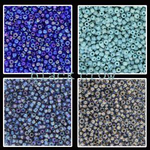 Rocailles blauw maat 11