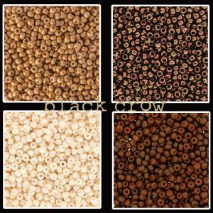 Rocailles bruin - beige maat 11