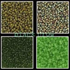 Rocailles groen maat 11